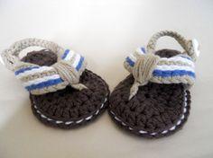 Sandalias de verano para bebés / Azul-Marrón / KeChulo.com - Artesanio