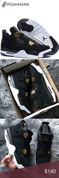 NEW 👑 NIKE AIR JORDAN RETRO 4 ROYALTY 7 youth NEW, NEVER WORN NIKE AIR JORDAN RETRO 4 SZ 7 youth (grade school/big kids)   Original box. No lid....Ships same or next day from my smoke free home. 👑  PRICED FIRM, offers will be considered through the offer button only. Bundle to save.   Checkout all my NIKE listings. 👑 100% authentic product purchased directly from NIKE Nike Shoes Sneakers