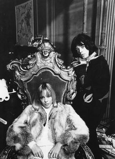"""Mick Jagger and Anita Pallenberg on the set of """"Performance"""", photo by Cecil Beaton, 1968 Anita Pallenberg, Like A Rolling Stone, Rolling Stones, Mick Jagger, It's All Happening, Marianne Faithfull, Swinging London, Cecil Beaton, Rockn Roll"""