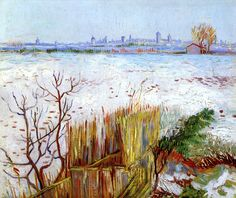 Snowy Landscape with Arles in the Background, Vincent van Gogh - 1888