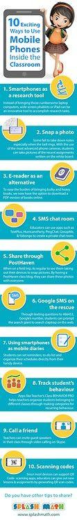 10 manières d'utiliser le mobile en classe #éducation #enseignement #mobile via 10 Exciting Ways to Use Mobile Phones In the Classroom