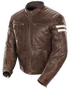 Joe Rocket Mens Classic '92 Leather Motorcycle Jacket Brown/cream Medium http://www.motorcyclegoods.com/best-24-classic-leather-jackets-for-men/