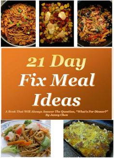 """21 Day Fix Meal Ideas - A book that will always answer the question, """"What's for dinner? Pork Chop Sandwiches, Ham Breakfast Casserole, Baked Garlic Parmesan Chicken, Baked Pork Chops, Kale Recipes, 21 Day Fix, Dinner Menu, Sandwich Recipes, One Pot Meals"""