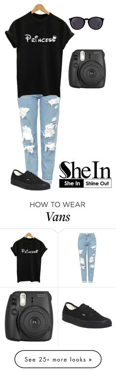 """Princess"" by samaramahone1d on Polyvore featuring Topshop, Vans, Yves Saint Laurent and Fujifilm"
