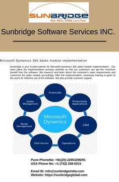 The Microsoft Dynamics AX 365 is a complete ERP system, with an integrated CRM system. Sunbridge is one of the most reliable Microsoft dynamics AX 365 partners in Minnesota  s. We have helped several organizations to implement a system that manages all their processes including finance, warehousing, trade & logistics, accounting, production, master planning, HR and CRM at one place. MS Dynamics AX 365 is a cloud-based application which is easy to implement and use as well. Project Methodology, Business Intelligence Solutions, Change Control, Enterprise Architecture, Crm System, Microsoft Dynamics, Customer Relationship Management, User Experience Design