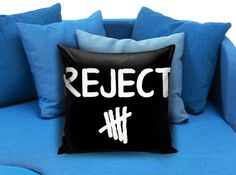 reject 5sos 5 seconds of summer pillow case  These soft pillowcase made of 50% cotton, 50% polyester.  It would be perfect to decorate your home by using our super soft pillow cases on sofa, chair, bench or bed.  Customizable pillow case is both comfortable and durable, improving the quality of your sleep with these comfortable pillow case, take it home now!  Custom Zippered Pillow Cases available in 7 different size (16″x16″, 18″x18″, 20″x20″, 16″x24″, 20″x26″, 20″x30″, 20″x36″)