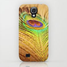 Feathered Finery Samsung Galaxy S4 case by Lisa Argyropoulos