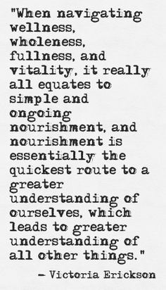 Nourishment by Victoria Erickson ((Find her on FB:victoriaericksonwriter))