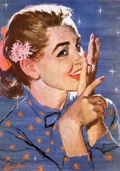 Vintage illustration by Joe Bowler
