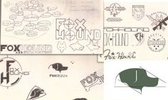 Logo design sketches from Kyle Funk for Foxhound Learning Logo, Logo Design, Graphic Design, The Fox And The Hound, Visual Identity, Design Process, Creative Business, Geek Stuff, Typography