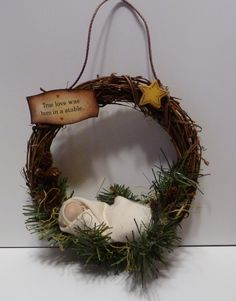Very quick & easy gift or craft. Sweet baby... (idea for next year for Anna & Claire's gravesite)