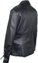 40266 Genuine Black Soft Supple Light Lambskin Real Leather Stadium Hipster Jacket YKK Original Zipper Front Lay Down Collar Buckle Belt Cuff Bottom Asymmetrical Cut Waist Nylon Lining Lined Regular Fit No Insulation Petite Regular Plus Size Inside Pocket