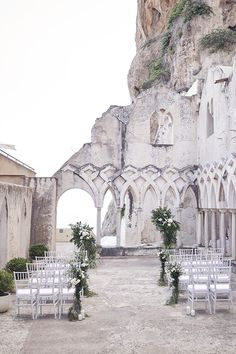 Intimate Wedding at the cloister, Grand Hotel Convento Amalfi, by Lost In Love Photography Wedding Venues Italy, Summer Wedding Venues, Wedding Places, Italy Wedding, Summer Weddings, Wedding Ideas, Wedding Pictures, Wedding Details, Historical Wedding Venues