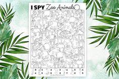 Free Printable I Spy Game: Zoo Animals