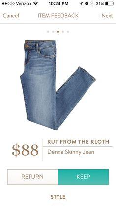 Stitch Fix Kut from the cloth Denna Skinny Jean