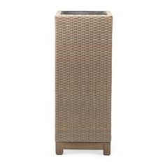 The Belham Living Rhen Wicker Tall Planter Box gives your new outdoor setting an option for clean, green accessories. This deep square planter box. Tall Planter Boxes, Square Planter Boxes, Tall Planters, Planters Around Pool, Vine Fruit, Tall Plant Stands, Outdoor Chairs, Outdoor Decor, Large Plants