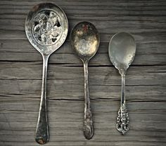 antique spoons/ I have one like the one on the left