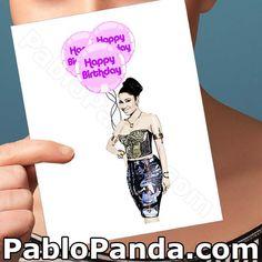 Happy Birthday Card  Nicki Minaj  Hop Hip Boyfriend by PabloPanda