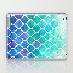 Emerald & Blue Marrakech Meander Laptop & iPad Skin by micklyn - $25.00