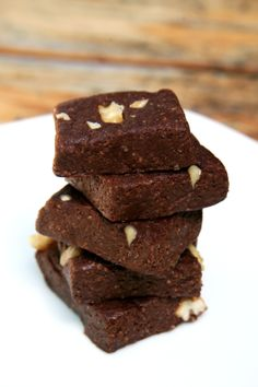 This sugar-free, gluten-free, and dairy-free recipe is just 59 calories per fudgy bite. As a bonus, each bite offers almost two grams of protein and fiber.