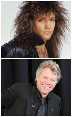 Jon Bon Jovi - then, now                                                                                                                                                     More
