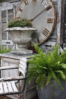 huge urn and clock Outdoor Spaces, Outdoor Living, Outdoor Decor, Outdoor Clock, Garden Urns, Garden Styles, Country Decor, Garden Inspiration, Garden Landscaping