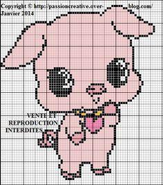 Beaded Cross Stitch, Cross Stitch Embroidery, Cross Stitch Patterns, C2c, Pig Crafts, Graph Design, Plastic Canvas Tissue Boxes, Cross Stitch Animals, Little Pets