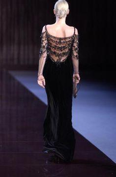Valentino velvet runway gown- c.2003.