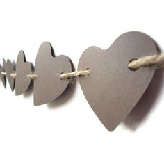 Love Paper Banner Heart Wedding Brown Rustic Wall Decor Garland Photo Prop. $10.00, via Etsy.