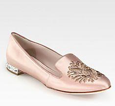 Embellished loafer by Miu Miu.