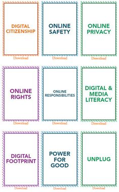 Excellent Free Downloadable Digital Citizenship Cards for your Class ~ Educational Technology and Mobile Learning