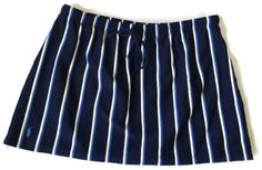 Whether on the court or at the water, always stylish with Ralph Lauren.  Ralph Lauren Sport Athletic Skirt M Blue Stripe #RalphLaurenSport #Mini
