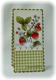 Flourishes Strawberries card - bjl