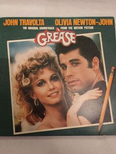 Original Grease Soundtrack John Travolta Olivia Newton LP Vinyl Records Vintage