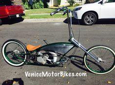 NoName Customs motorized Bicycle, chopper, Gasbike, piston bike, built by Venice Motor Bikes
