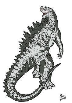 Ultimate X-Ray: Godzilla by Chris Panda *