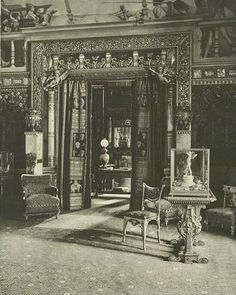 640 Fifth Ave, William H. Vanderbilt Residence c.1882 DRAWING-ROOM WITH FIFTHAVENUETO THE LEFT AND THE JAPANESE ROOM AHEAD