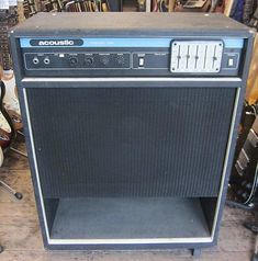 New Kings Road Vintage Guitars, Europe's premier vintage guitar store are pleased to be able to offer for sale this ACOUSTIC CONTROL CORP 126 Bass Amp. Valve Amplifier, Guitar Store, Bass Amps, Guitars For Sale, Epiphone, Vintage Guitars, Cool Tones, Musical Instruments, Bass Guitars