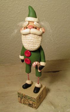 Christmas old fashioned Santa Claus or St Nick folk art by Janell Berryman Pumpkinseeds by JanellBerryman on Etsy