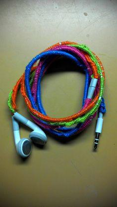 Blue, Pink, Orange, Green Ipod Headphones!
