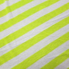 "Yellow and White 1 1/4"" Stripes on Cotton Jersey"