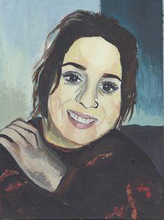 A4 Acrylic Self Portrait for my FMP - 2015
