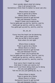 Pink lyrics ( Try.)