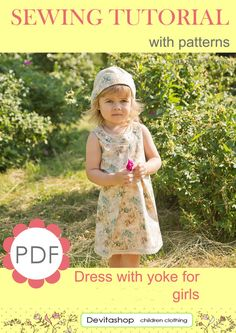 Sewing Tutorial Dress with a Yoke for Girls  от Devitachildren