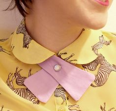 Vivid Please: DIY: How To Make Your Own Retro Lady Necktie  I am pinning this in 2 places cuz I don't want to be sure I will remember this and make it!