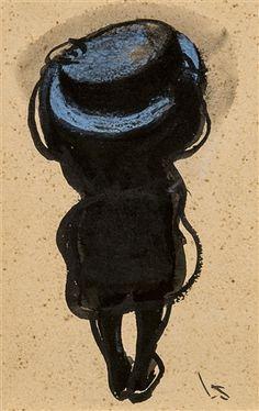Femme au chapeau vue de dos par Léon Spilliaert. Don't know why, but, she looks fun.