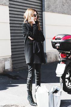 All Black - Milan Fashion Week   Harper&Harley