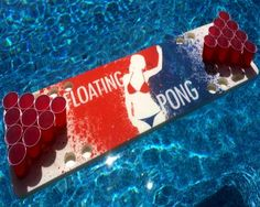 Splash Pong Foam Floating Table. Can be used in the water and out of the water.  Free shipping!  #beerpong #beerpongtable #fun #summer #friends #pool #poolparty #party #springbreak