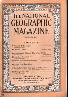 National Geographic February 1910