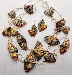 Butterfly necklaces by Irina Sergeeva